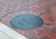 Sharp edges of cut pavers can chip if adequate space is not allowed between adjacent pavers