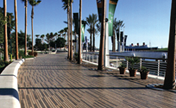 Long Beach, California Queensway Project Featuring Boardwalk Fired-Clay Paving Brick