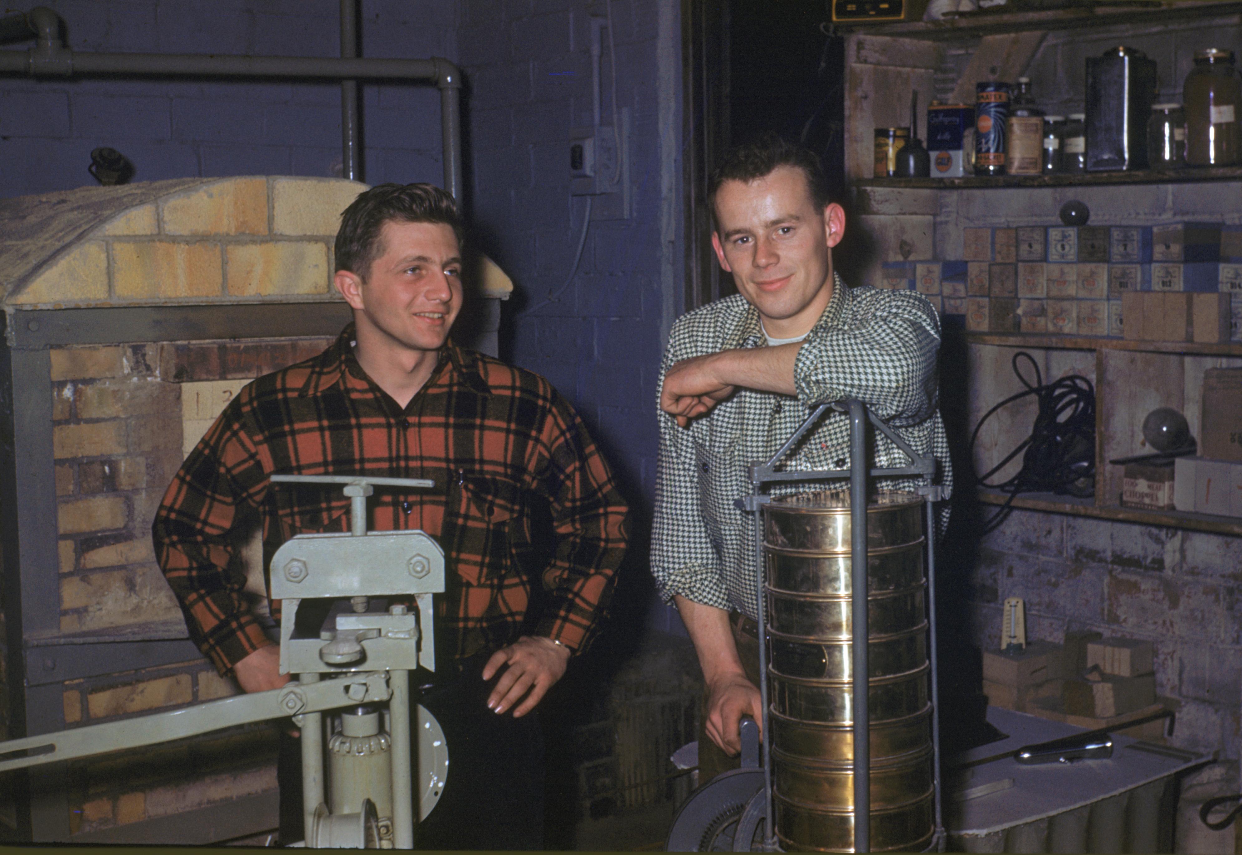 John Junior and Jim Crow in lab